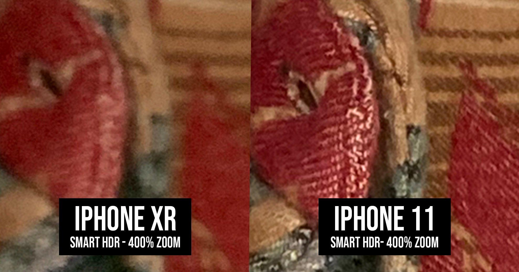iPhone 11 poza deep fusion obiecte comparatie iphone xr