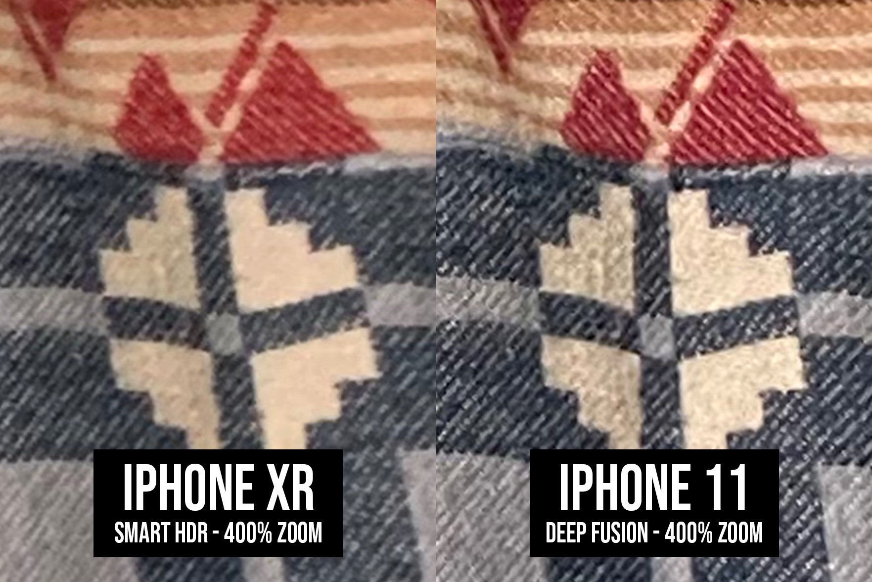 iPhone 11 poza deep fusion obiecte