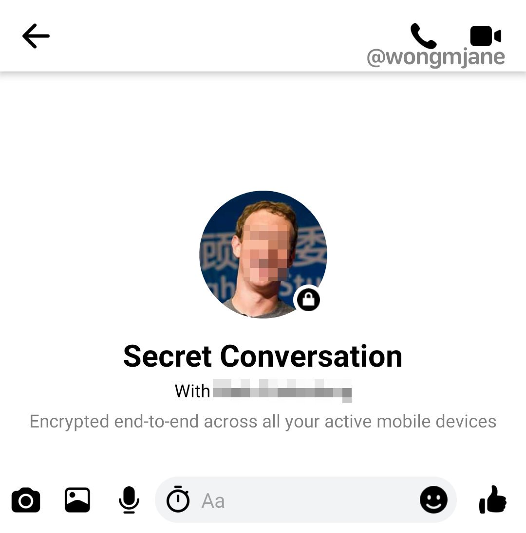 Facebook Messenger functie secret apeluri criptate