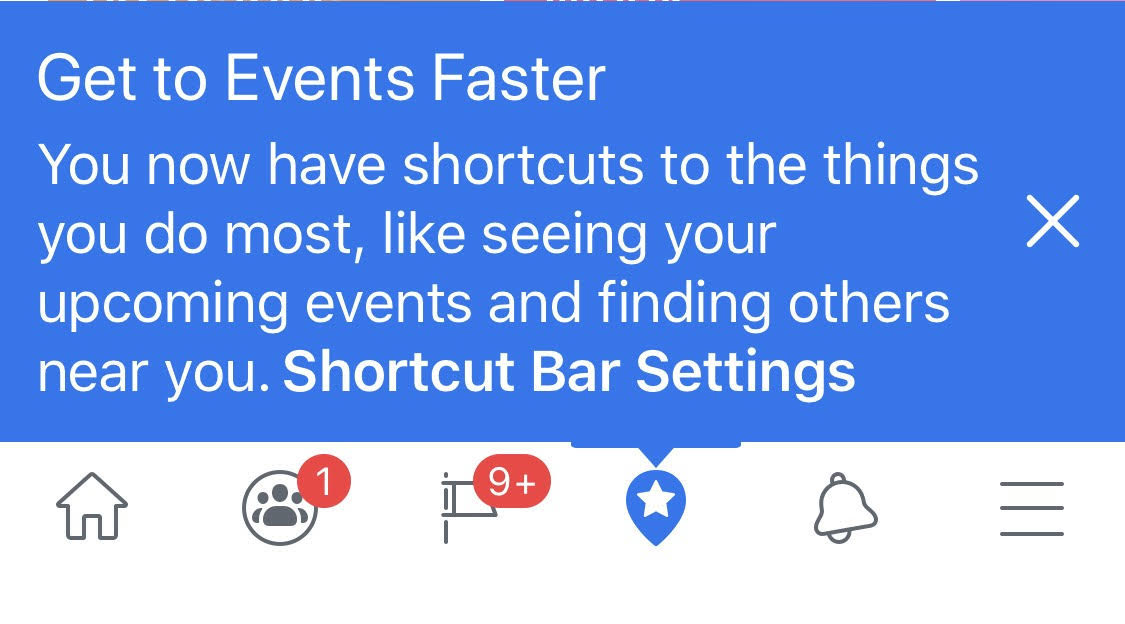 Facebook optiuni scurtaturi