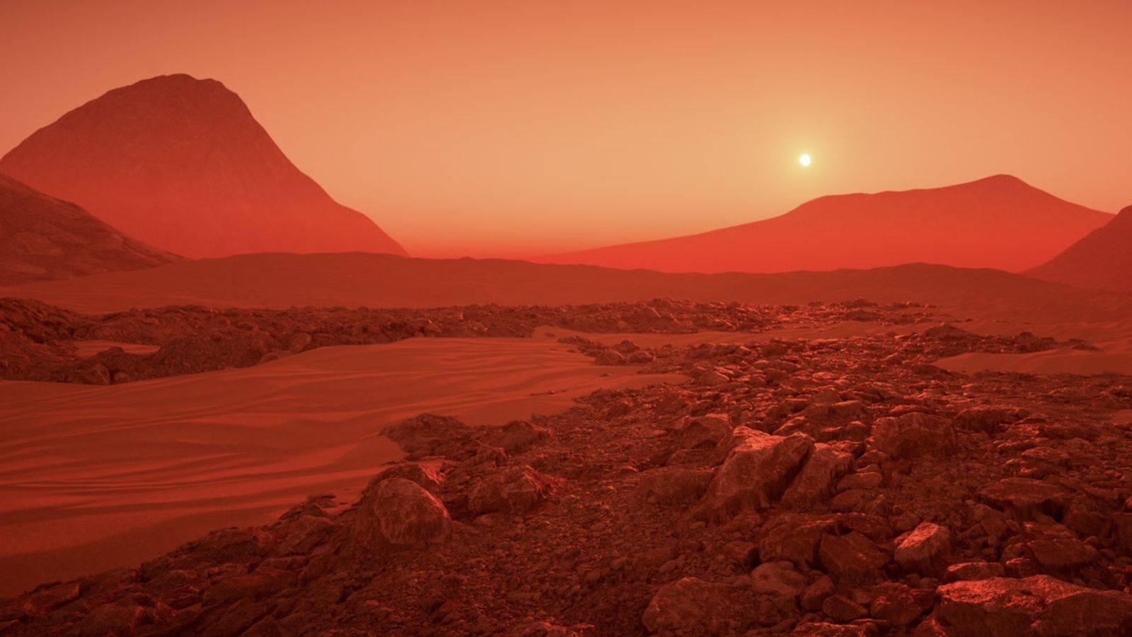 Planeta Marte constructie oras