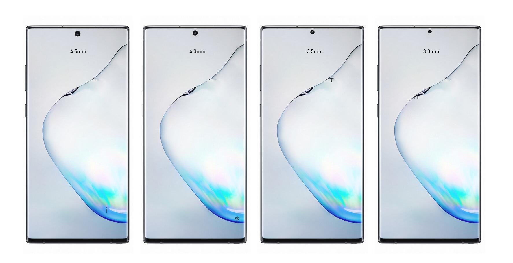 Samsung GALAXY S11 perforatie ecran design