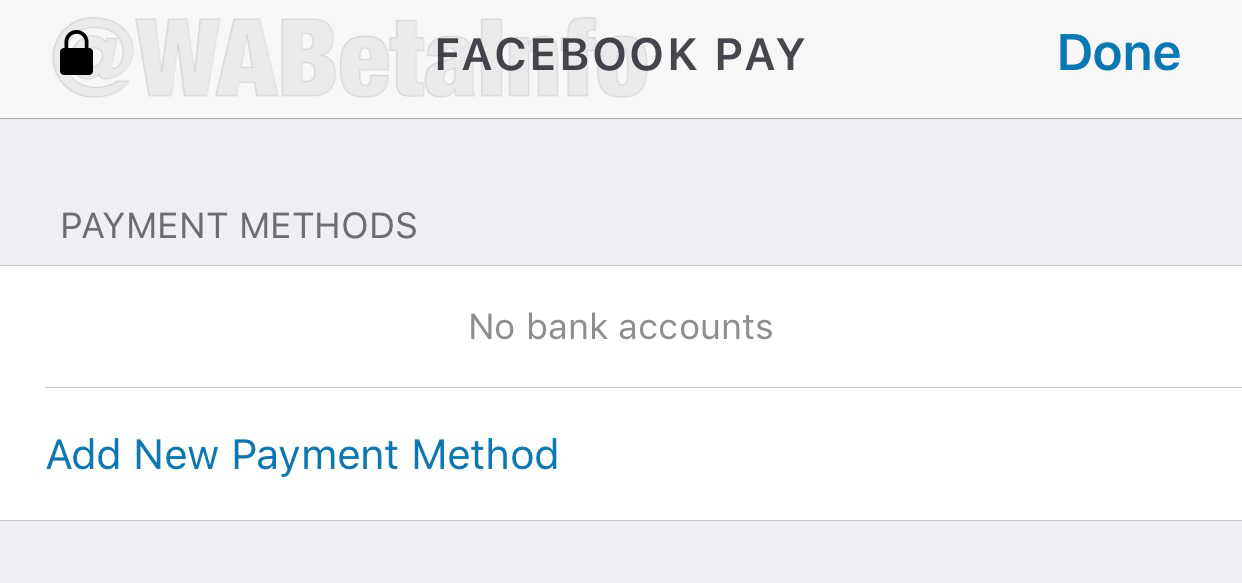 WhatsApp Facebook Pay