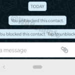 WhatsApp contacte blocate chat