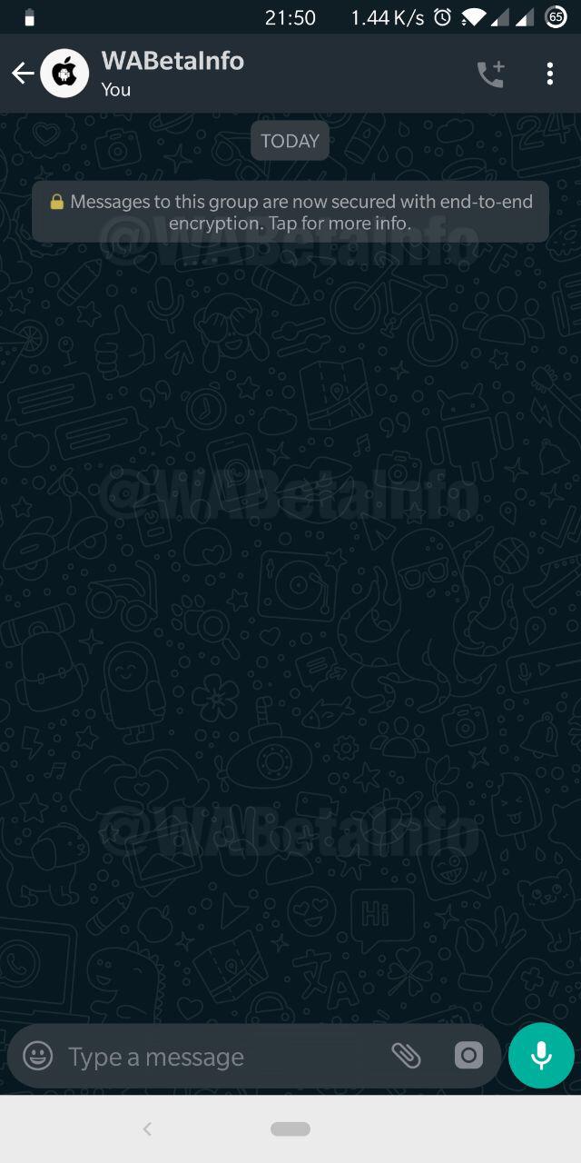 WhatsApp dark mode chat android
