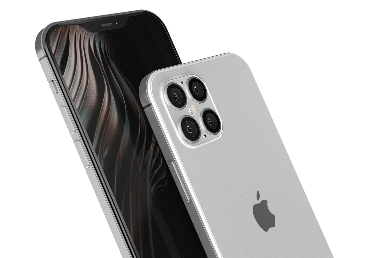 iPhone 12 decupaj mic foto argintiu