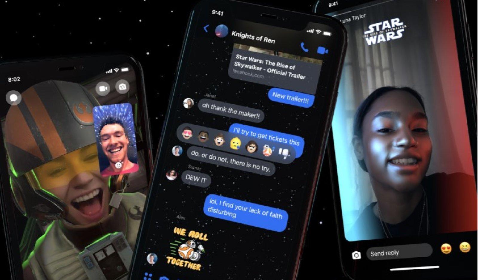 Facebook Messenger tema star wars
