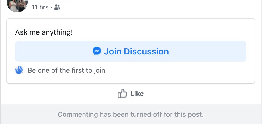 Facebook messenger discuss with friends