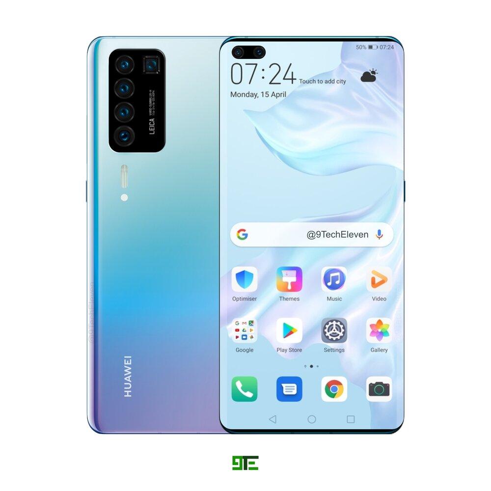 Huawei P40 PRO design clona GALAXY S20