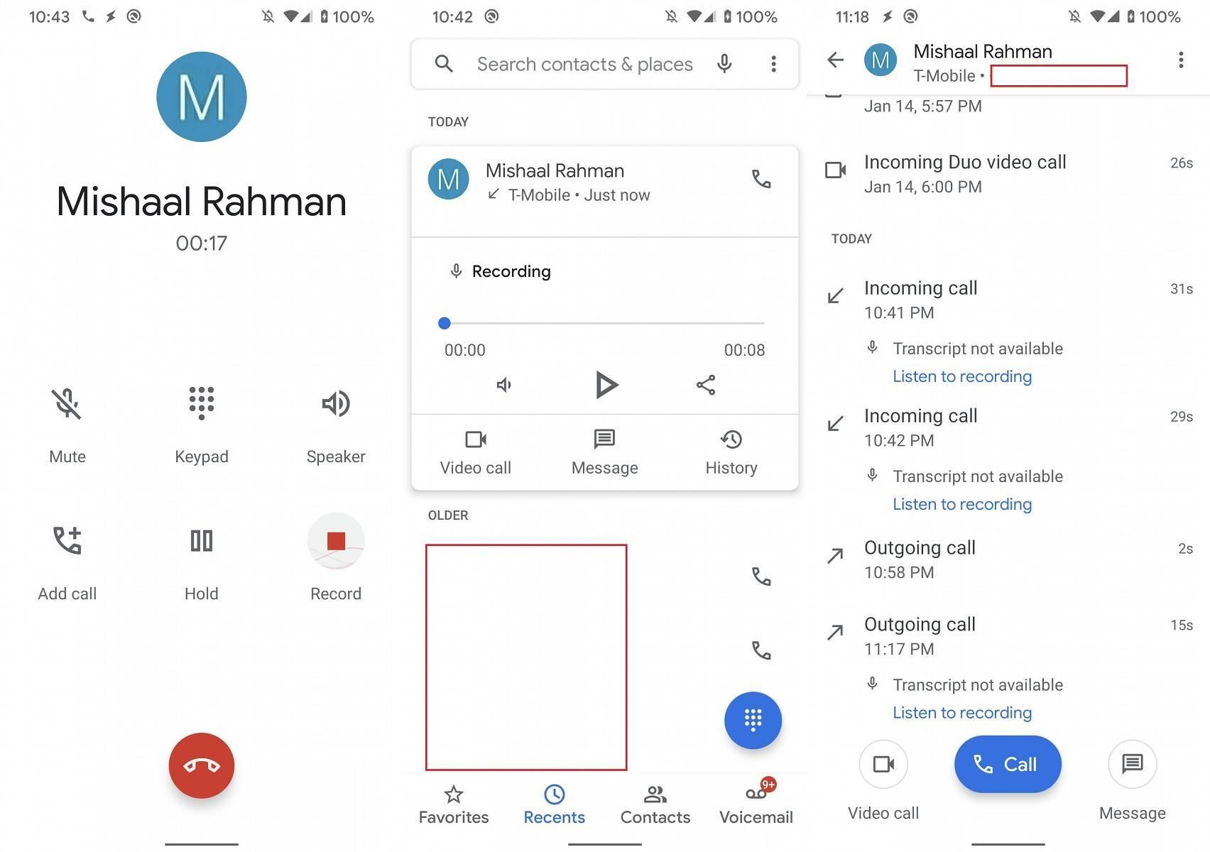 Android inregistrare apeluri aplicatia google phone