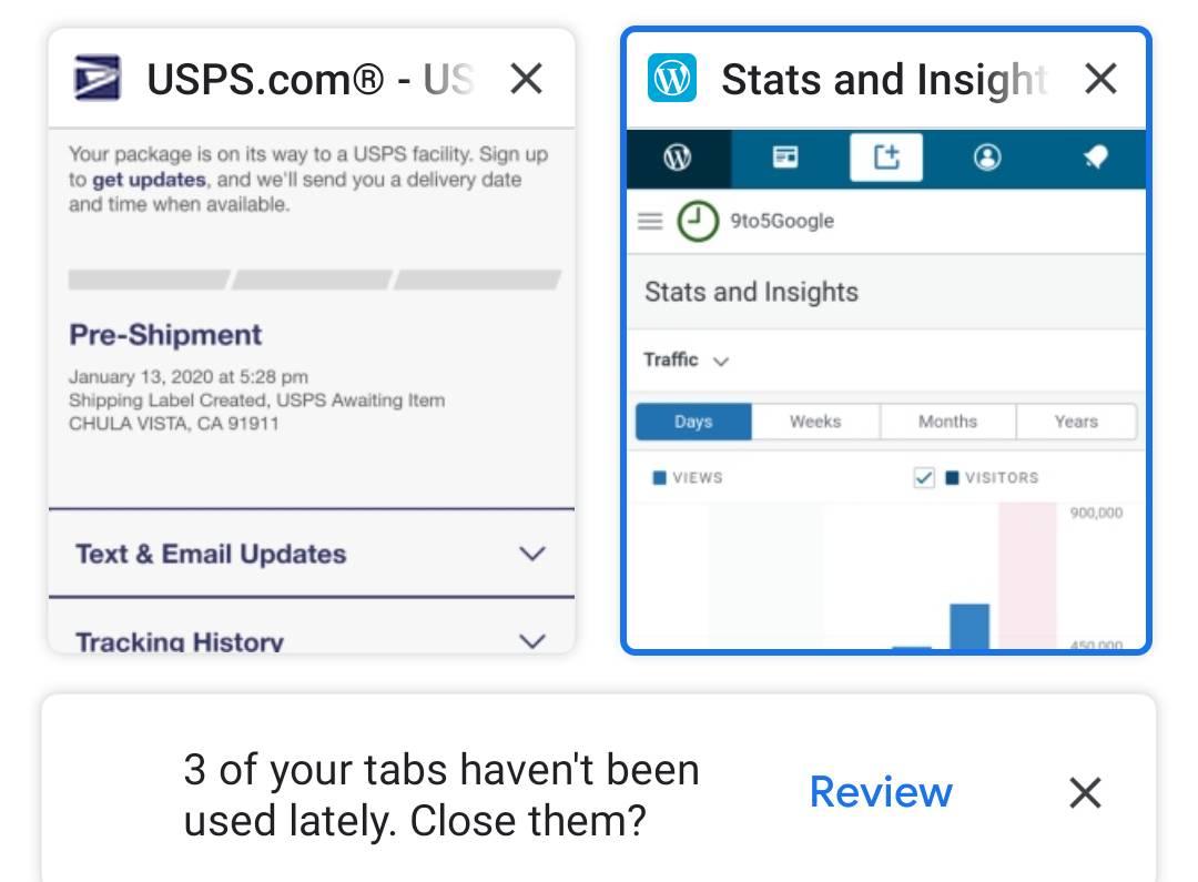 Google Chrome recomandare inchidere tab