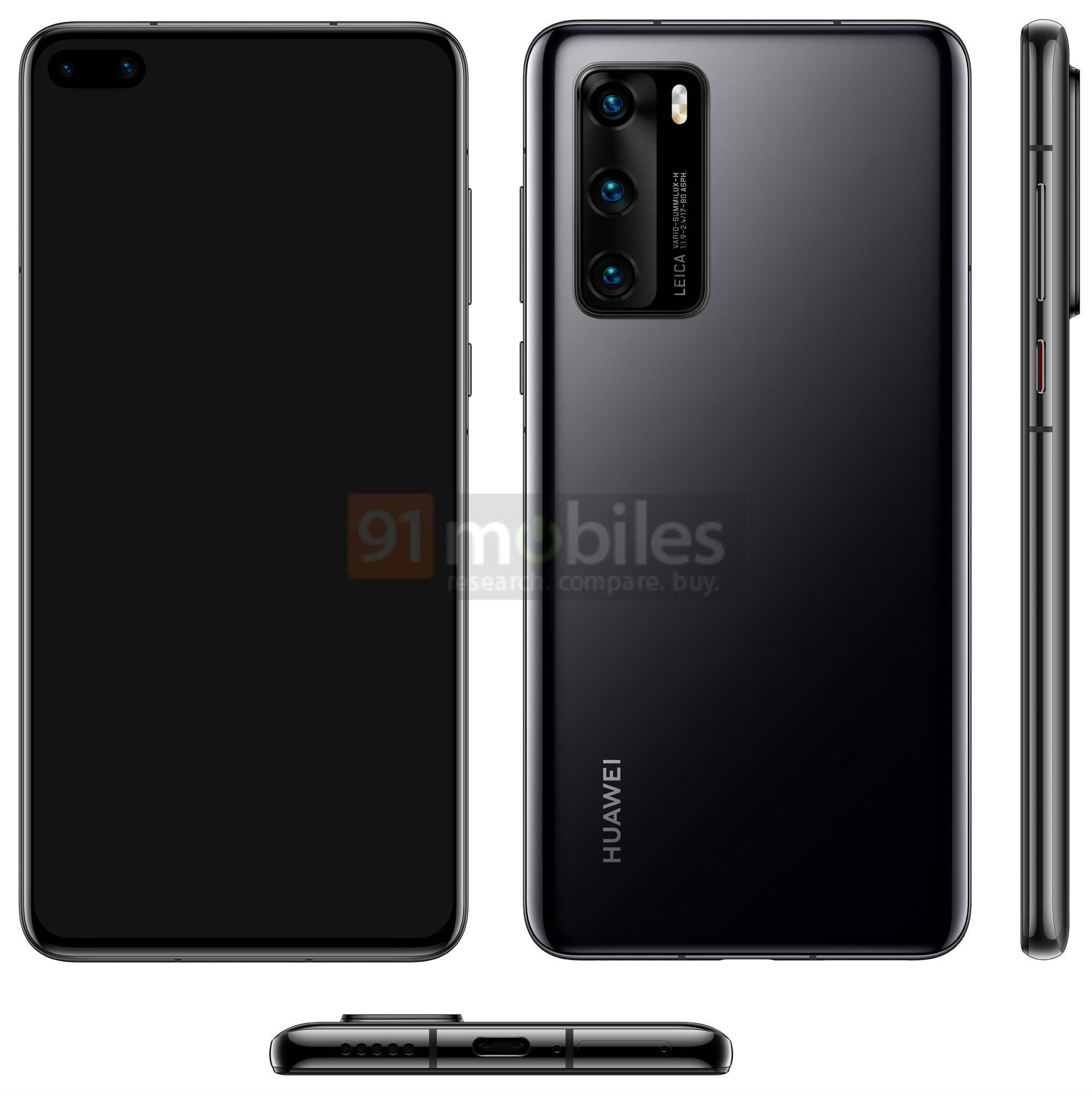 Huawei P40 imagine design