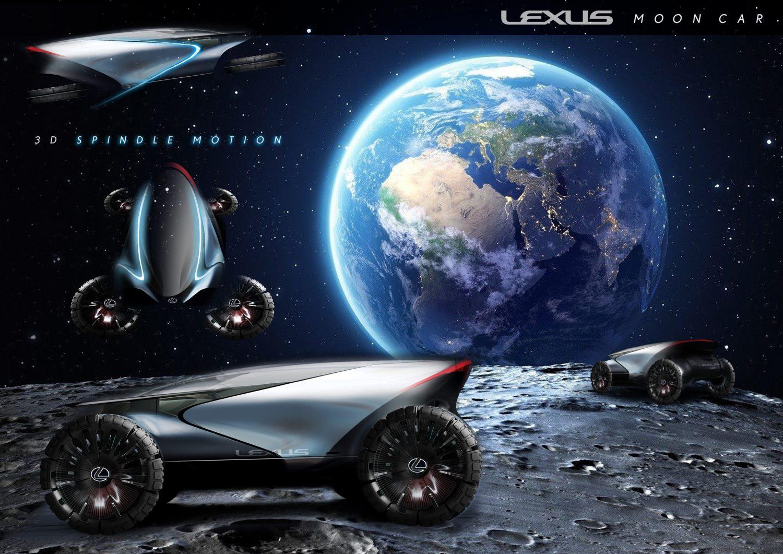 Lexus masina spatiala luna