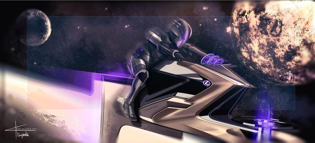 Lexus motocicleta spatiala luna