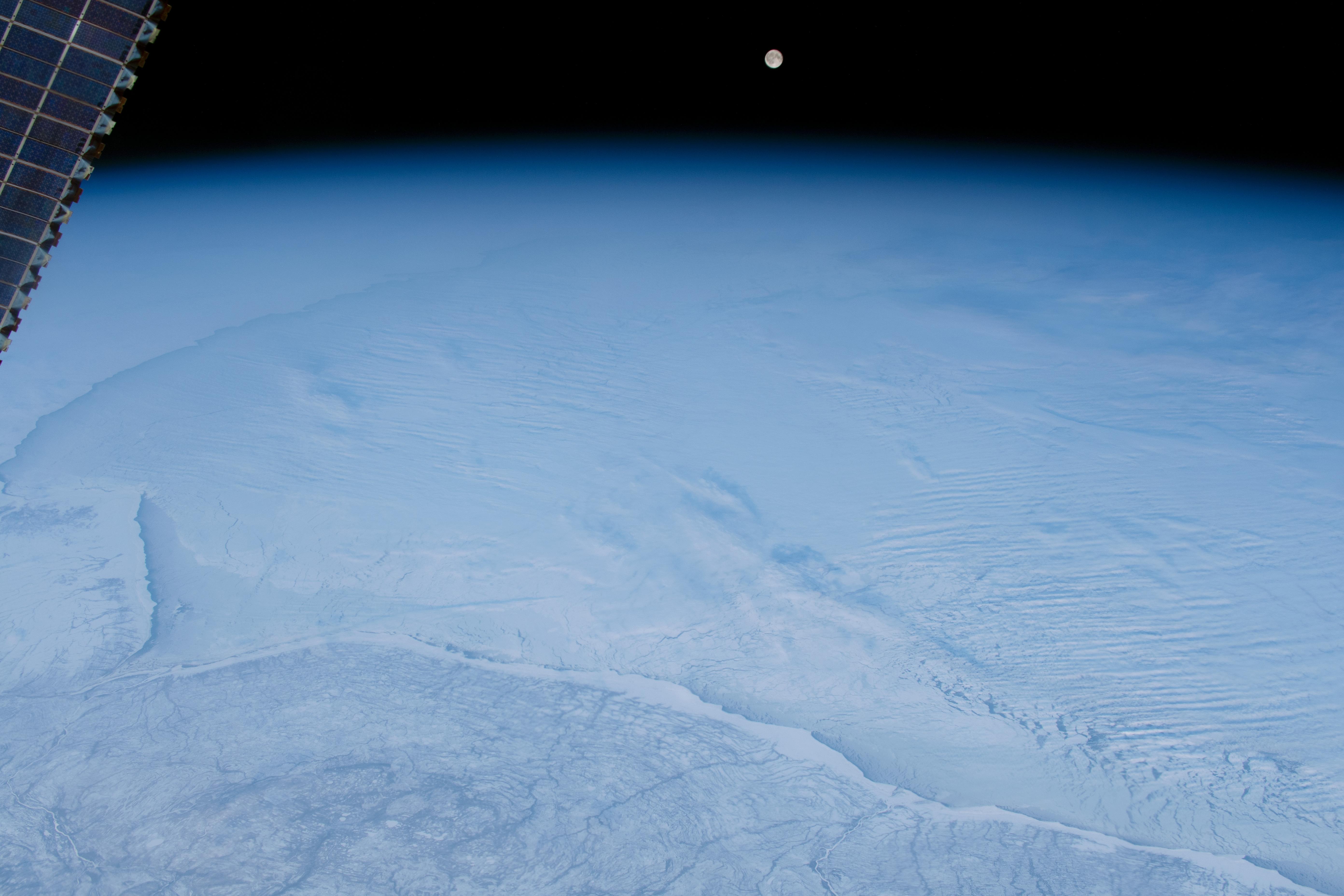 NASA imagine Pamant inghetat