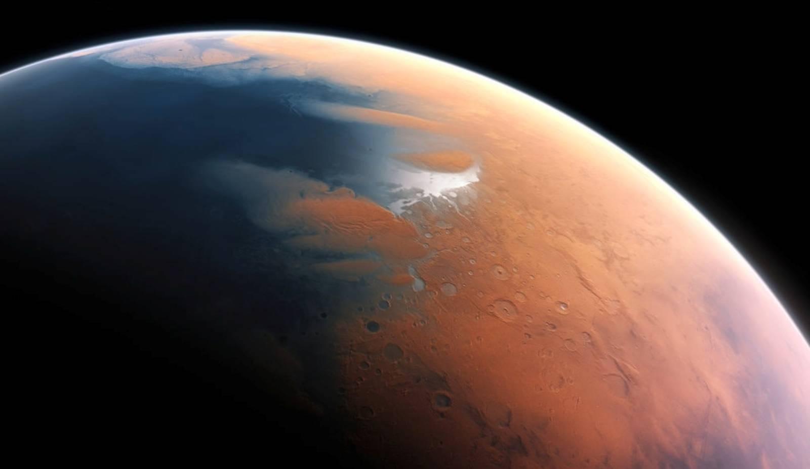 Planeta Marte albie