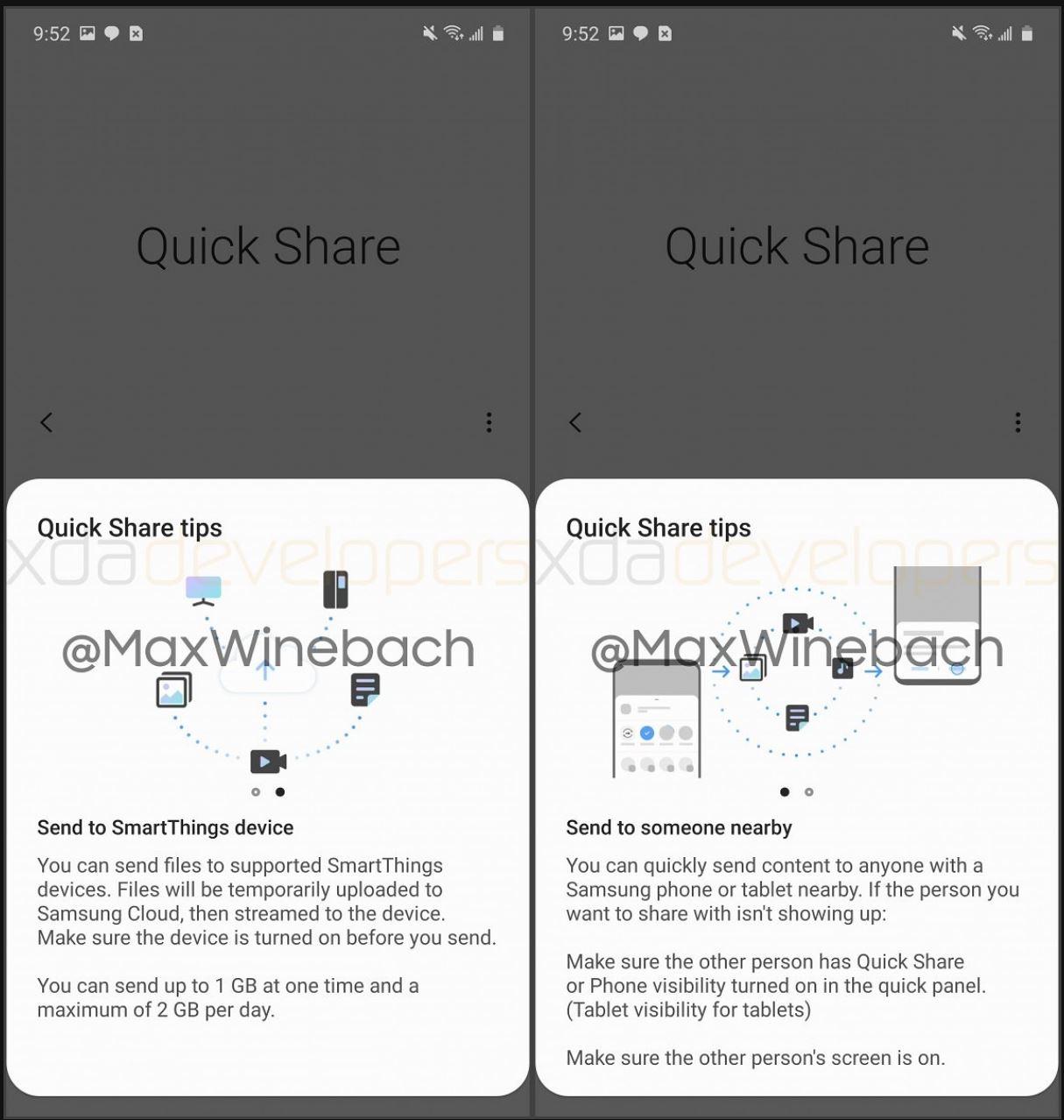 Samsung Quick Share partajare