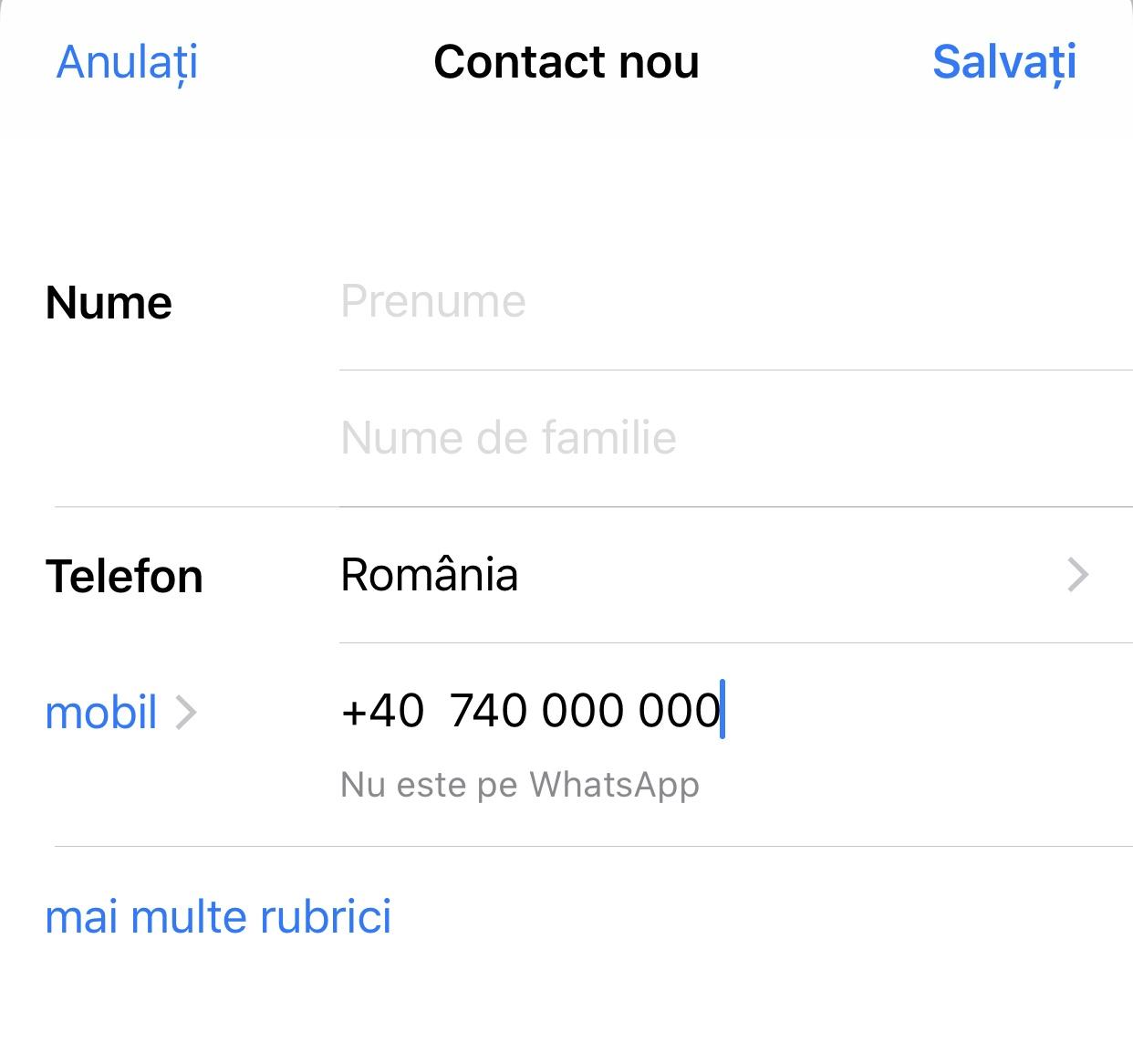 verifica numarul de telefon