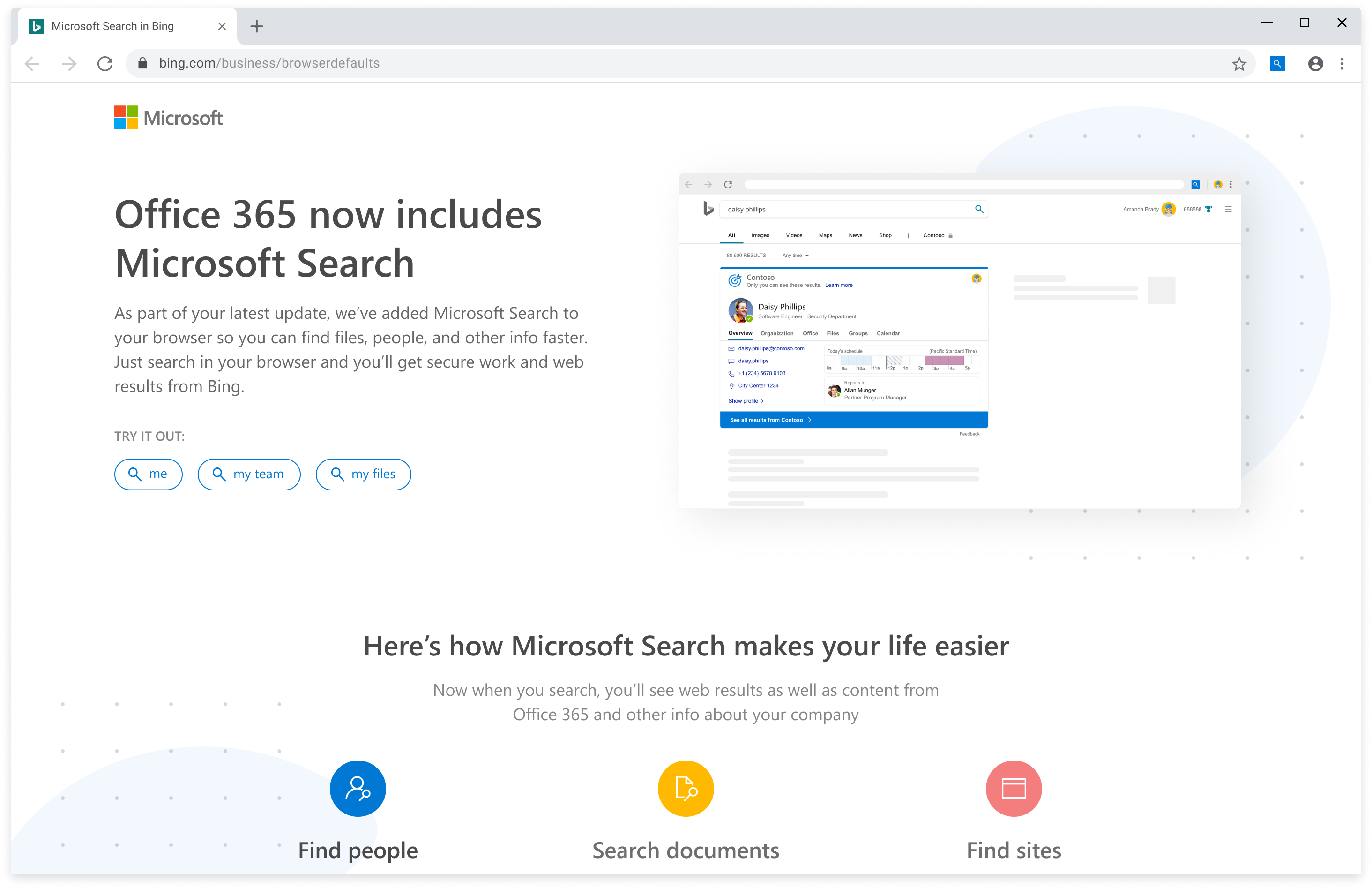 Windows 10 bing office 365