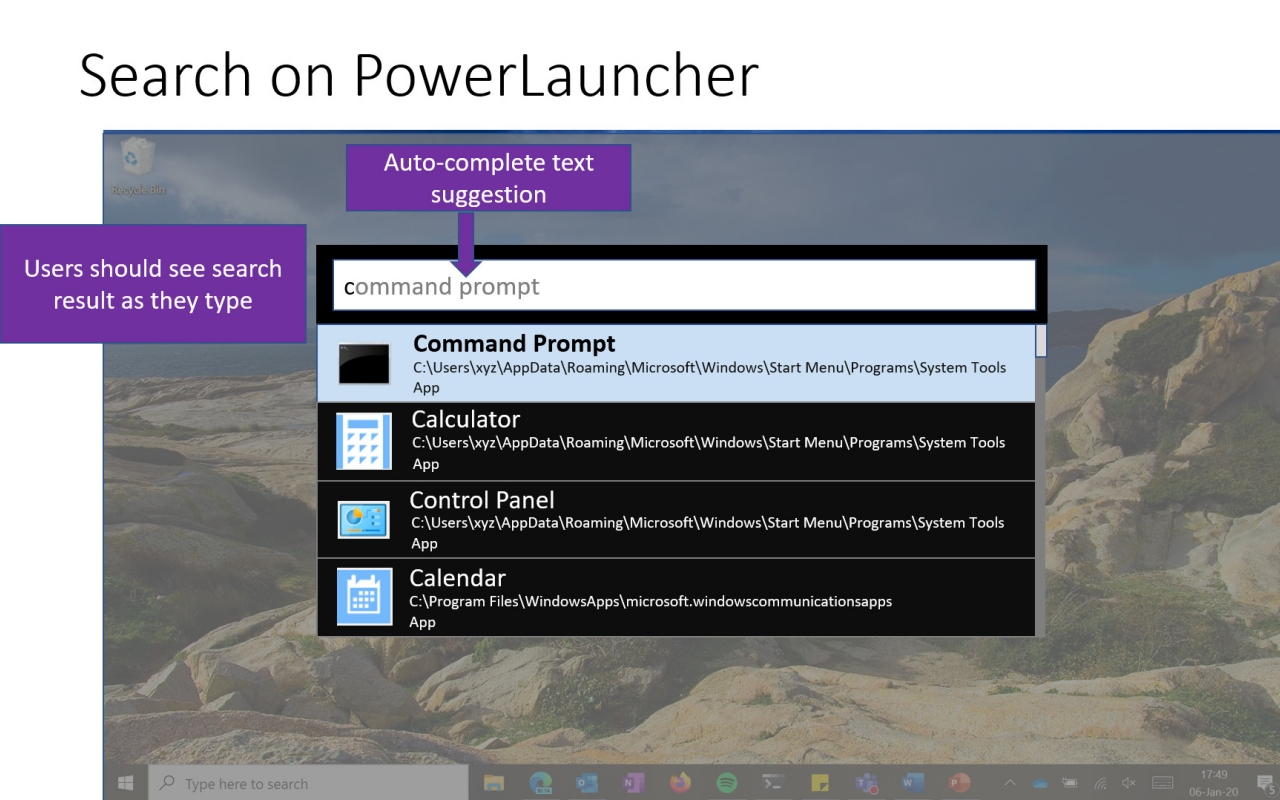 Windows 10 cautare powerlauncher