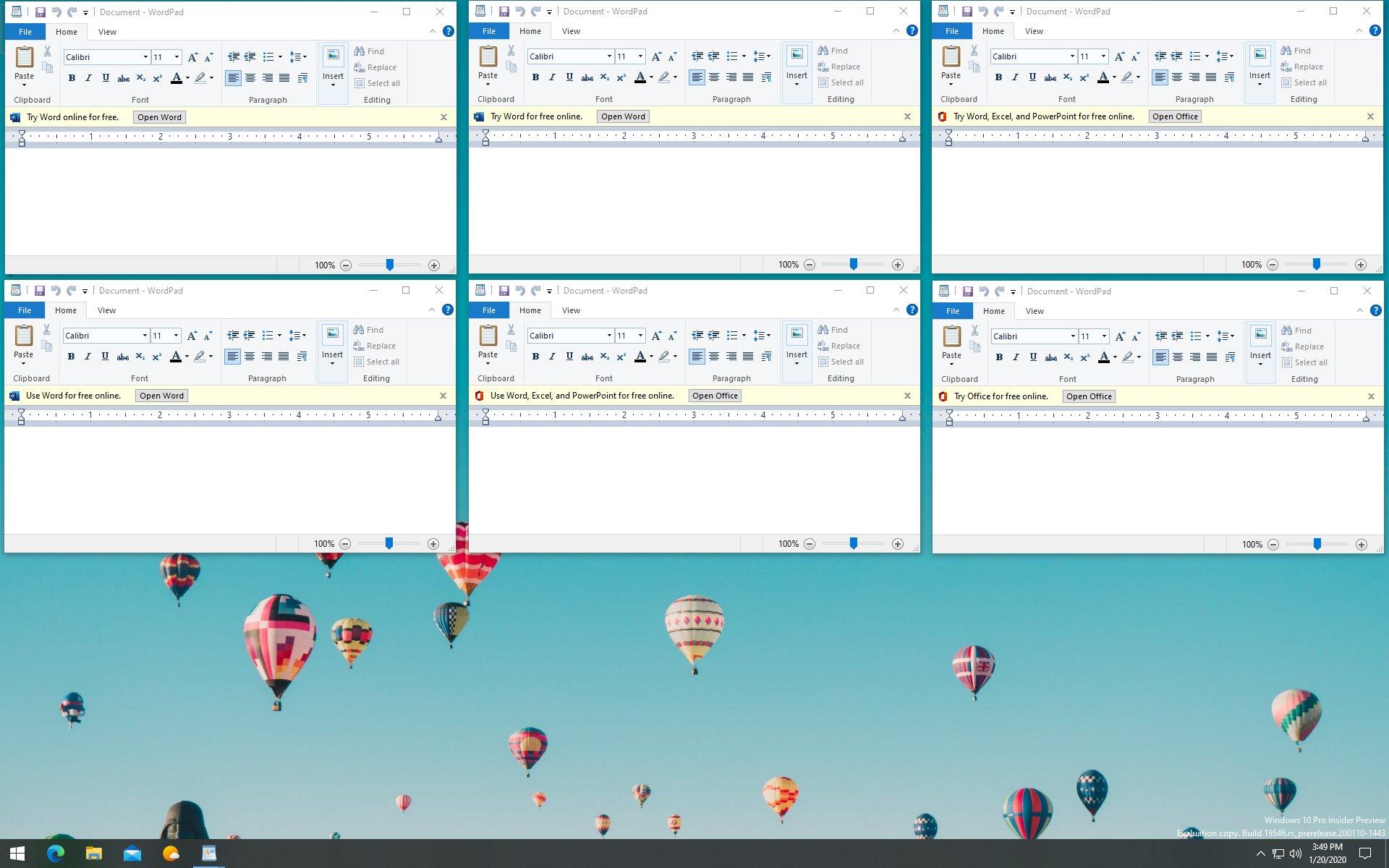 Windows 10 reclame wordpad