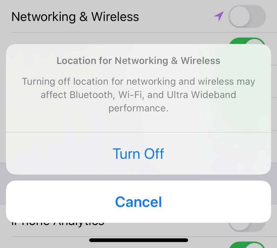 iOS 13.3.1 networking wireless