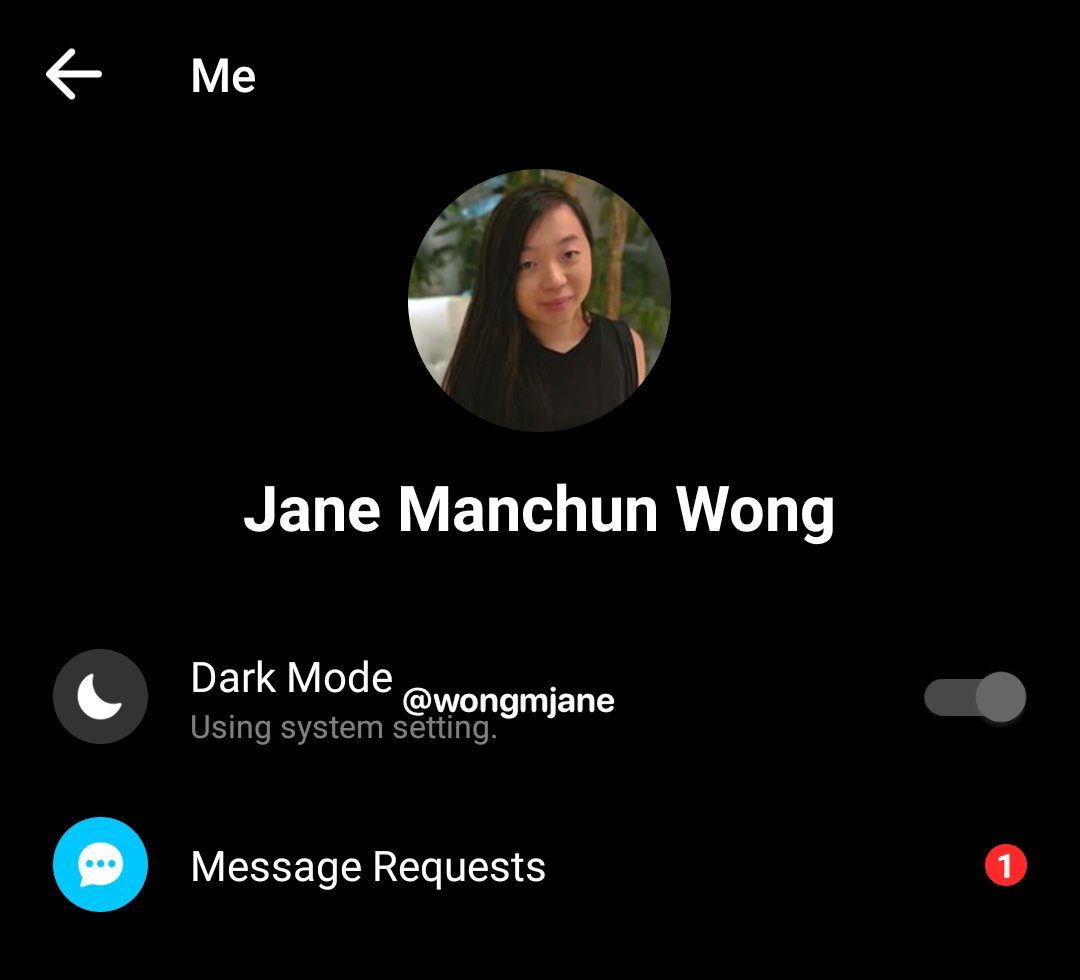Facebook Messenger android dark mode