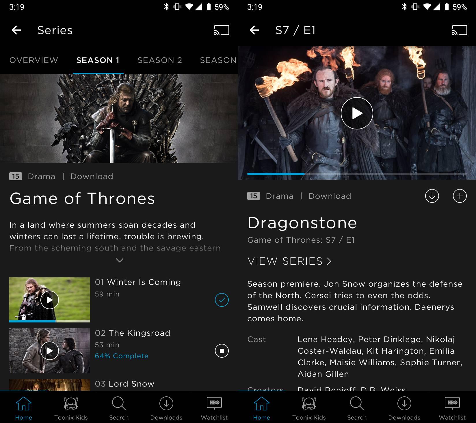 HBO aplicatie download