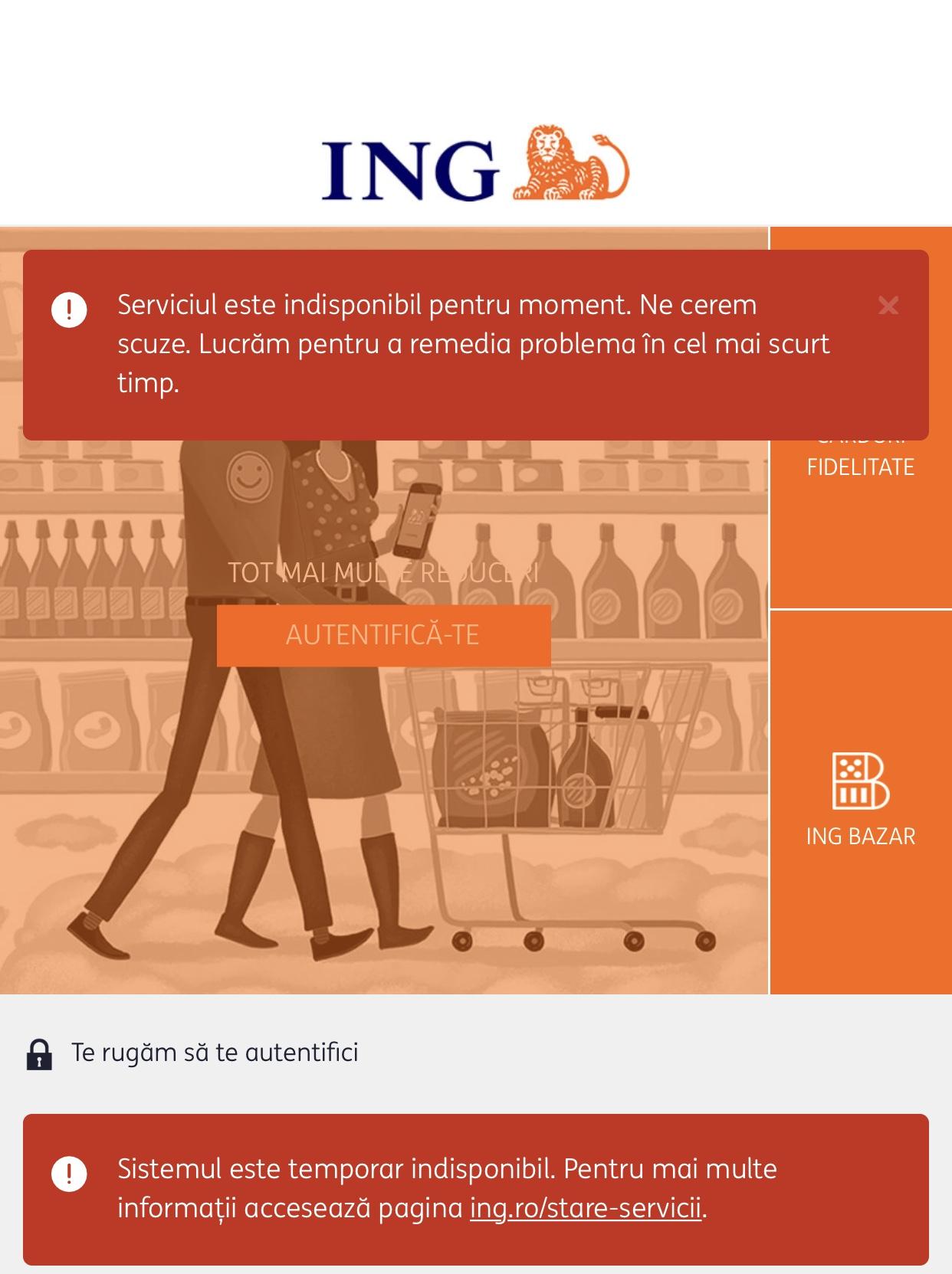 ING Bank probleme homebank