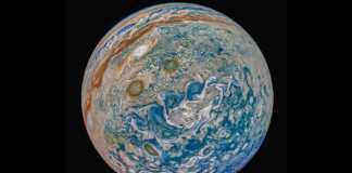 Planeta Jupiter coroana