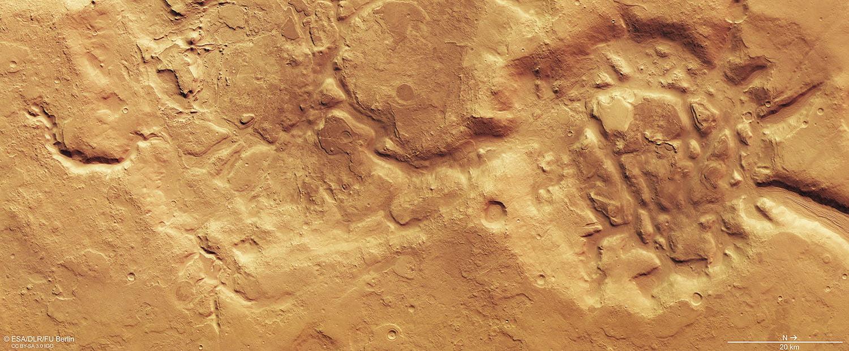 Planeta Marte emisferele