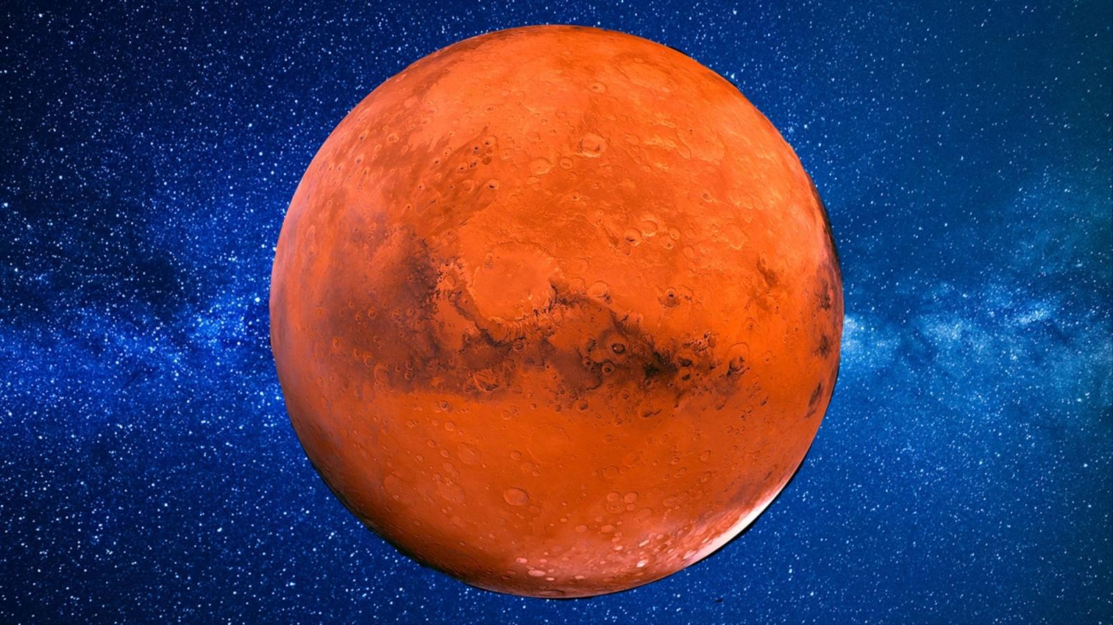 Planeta Marte gheata