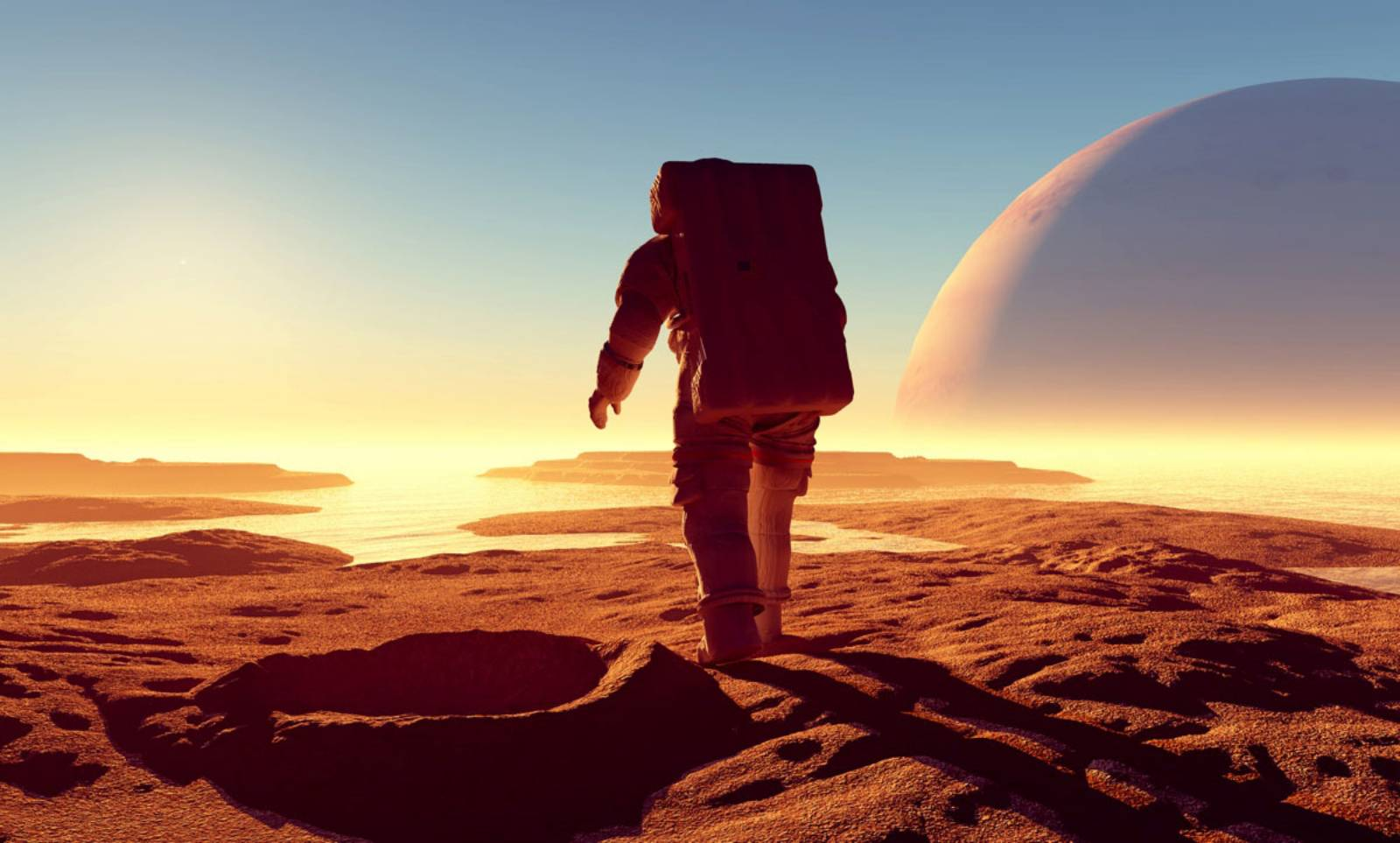 Planeta Marte laser