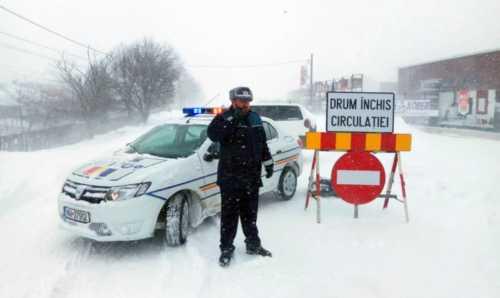 Politia Romana Harta Live Cu Drumurile Inchise De Viscol Idevice Ro
