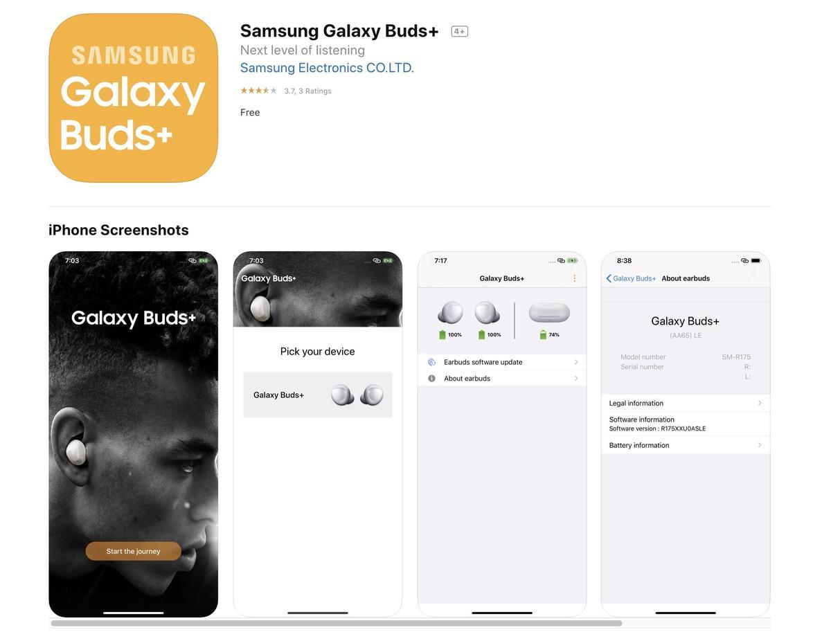 Samsung Galaxy Buds Plus iPhone