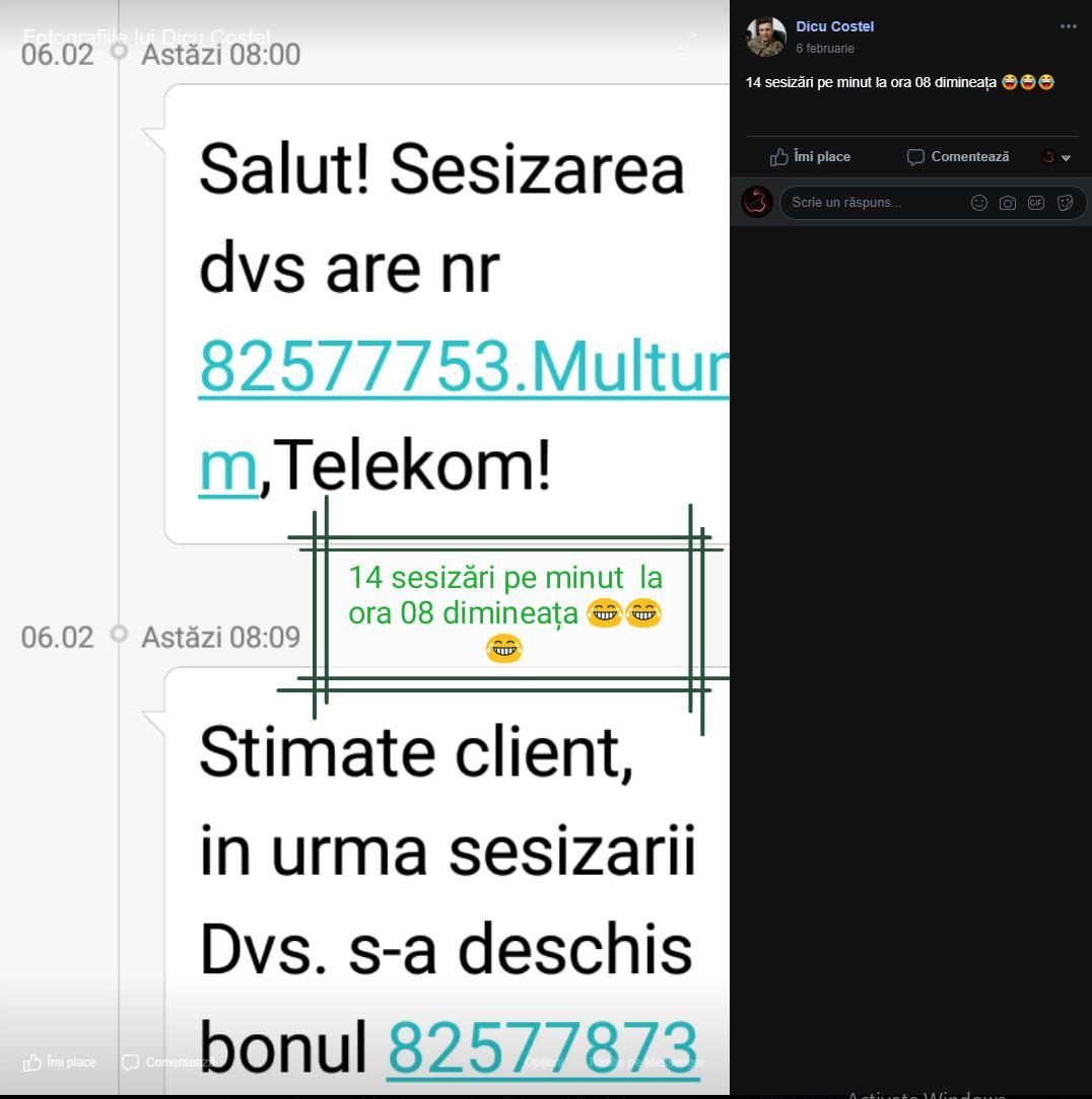 telekom sesizari minut Romania