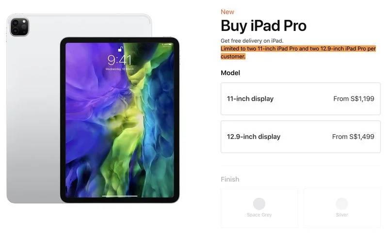 Apple limita comenzi iPad Pro