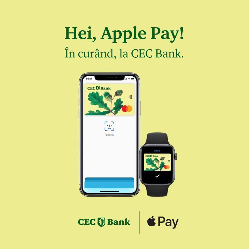 CEC Bank apple pay lansare