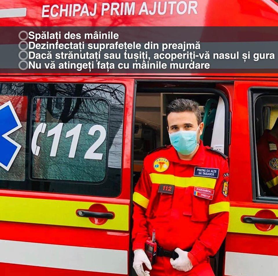 Coronavirus Romania apelul DSU ambulanta
