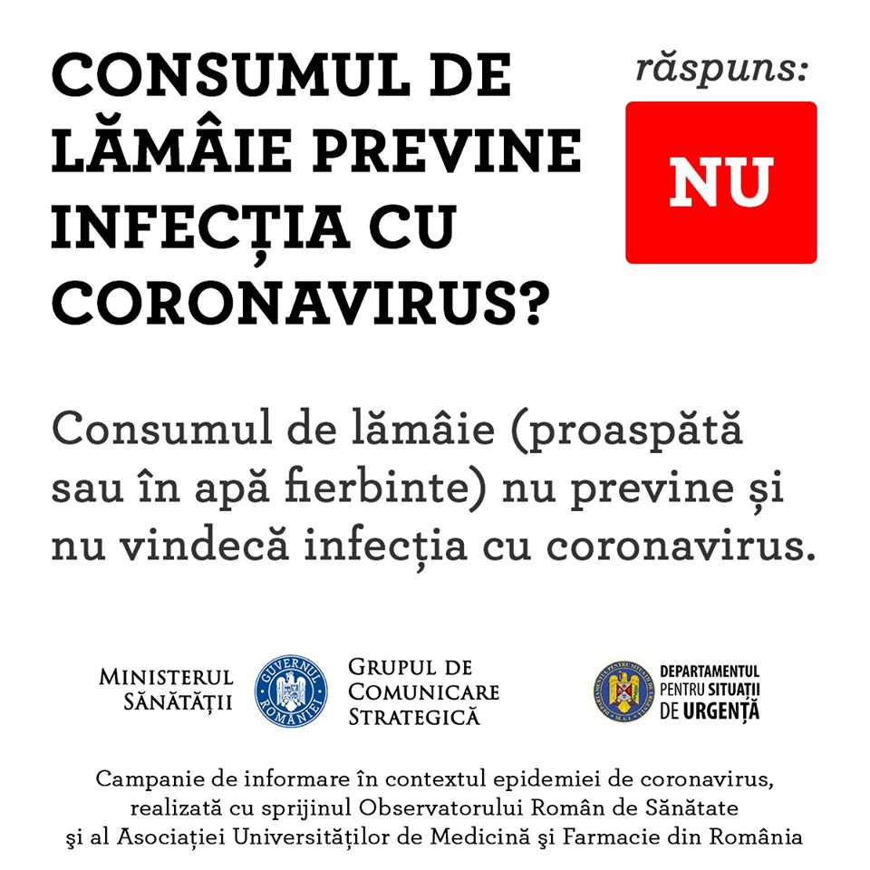 Coronavirus Romania lamaie vindecare