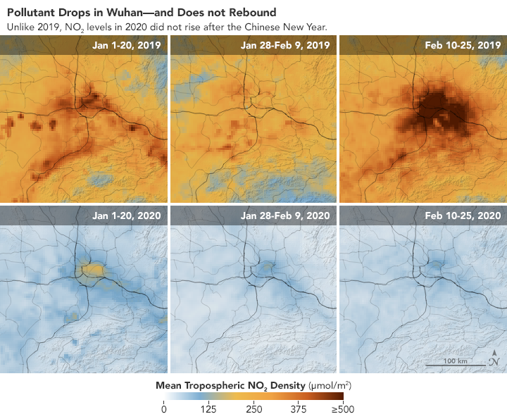 Coronavirus scadere poluare china