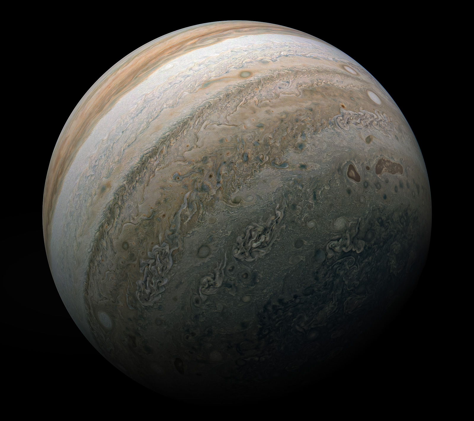 Planeta Jupiter supravegheata juno