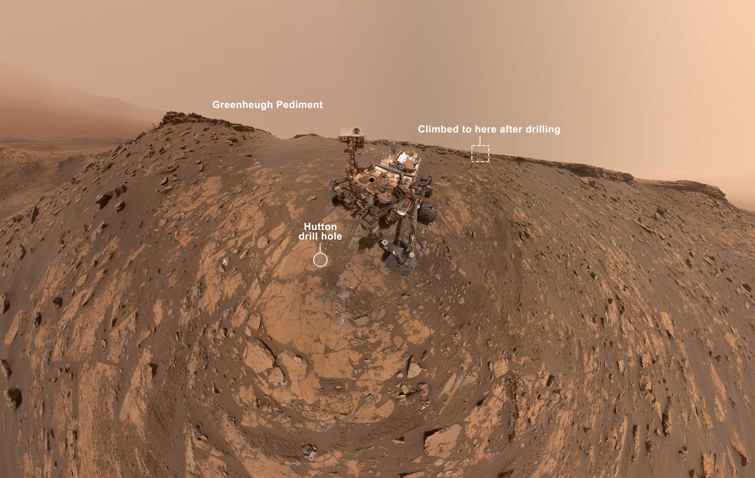Planeta Marte selfie Curiosity