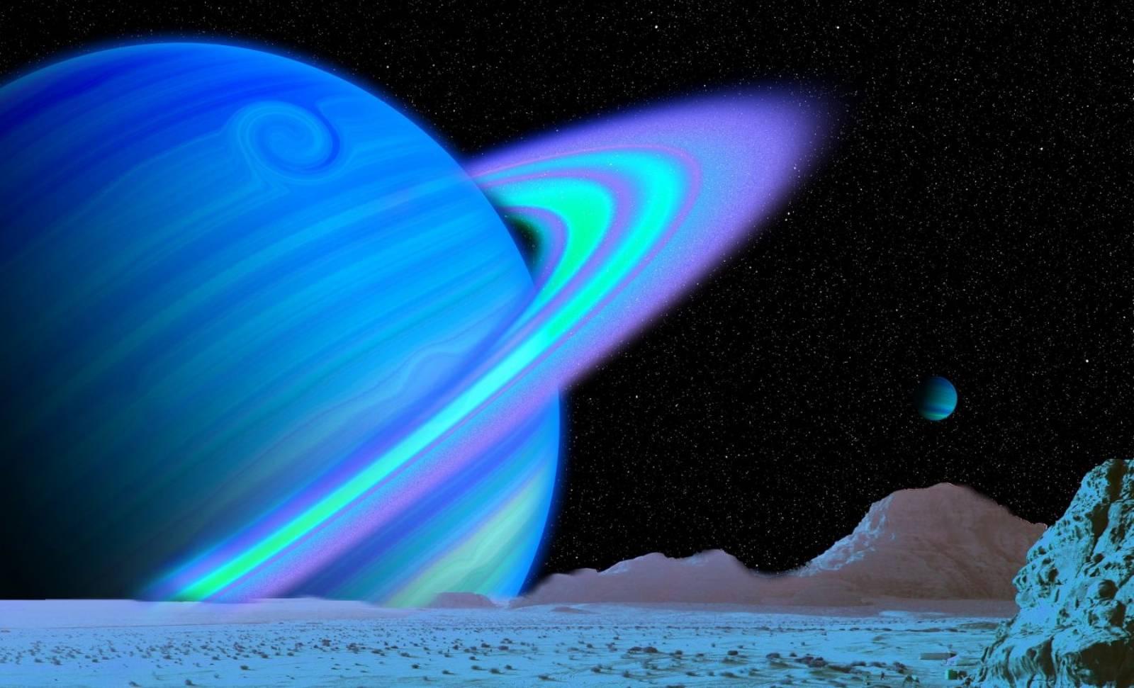 Planeta Uranus gaz