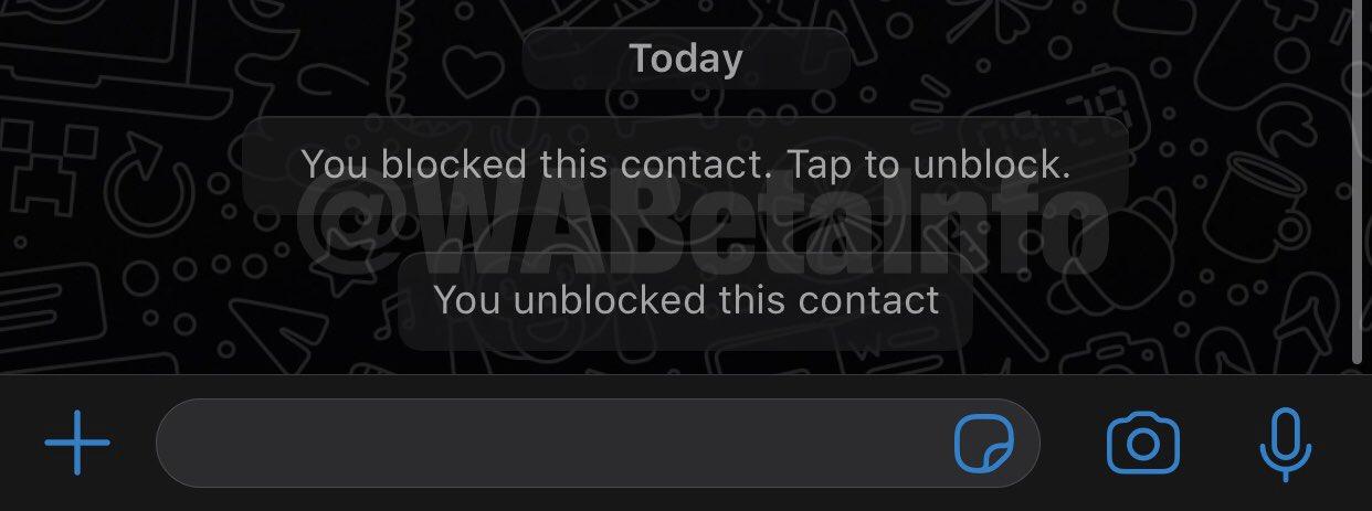 WhatsApp contacte blocate