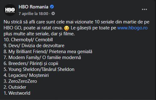HBO Go seriale romania