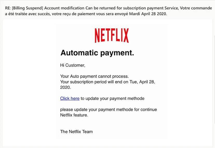Netflix furturi phishing