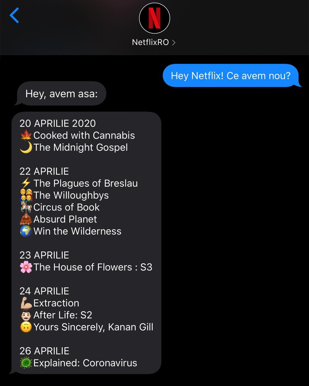 Netflix romani filme seriale