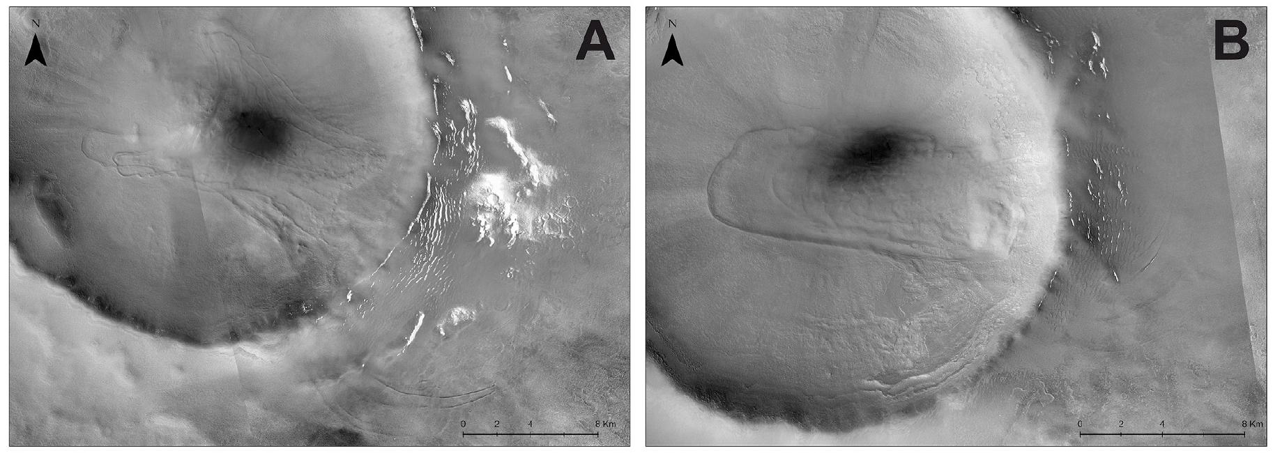 Planeta Marte avalansa gheata