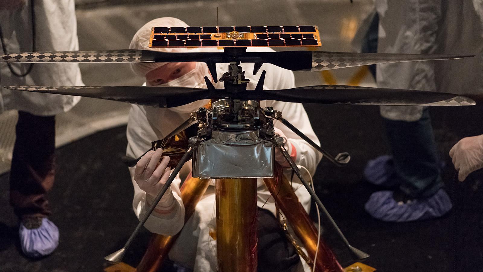 Planeta Marte elicopter robot
